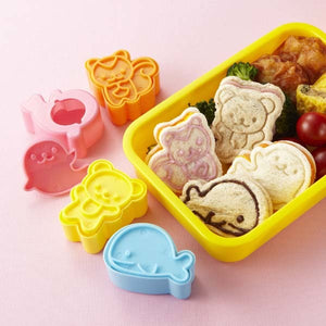 Animal Friends Sandwich / Cookie Cutters and Stampers (4 pack)