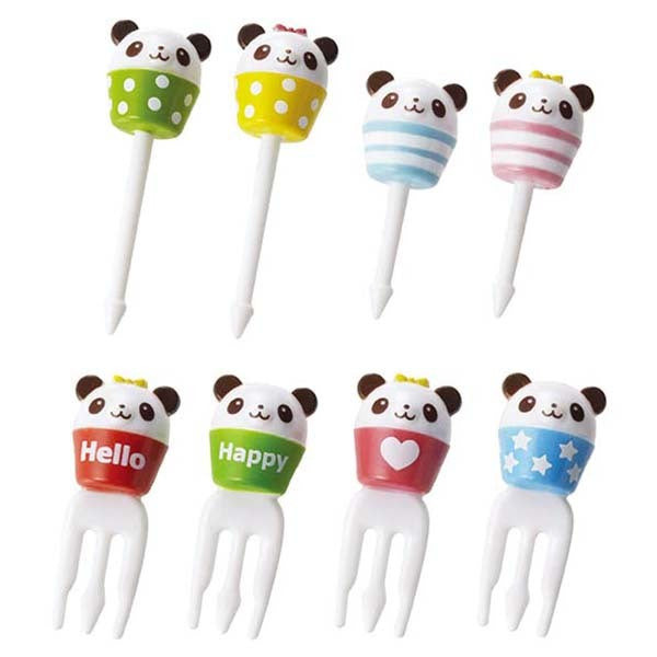Run Run Panda Food Picks & Forks