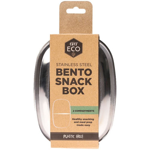 Ever Eco Stainless Steel Bento Snack Box - 2 Compartment