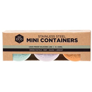 Ever Eco Stainless Steel Mini Containers Spring Pastels - 3 Pack