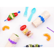 Load image into Gallery viewer, Lunch Punch Stix Long Food Picks - Full Rainbow 7 Pack