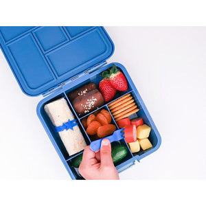 Lunch Punch Silicone Wrap Bands - Blue Set