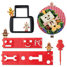 Load image into Gallery viewer, Cute Z Cute Robo - Sandwich Cutter and Stamp Set