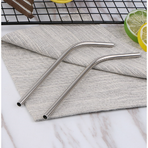 Stainless Steel Short (Cocktail) Bent Drinking Straw (SINGLE)