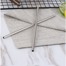 Load image into Gallery viewer, Stainless Steel Short (Cocktail) Straight Drinking Straw (SINGLE)