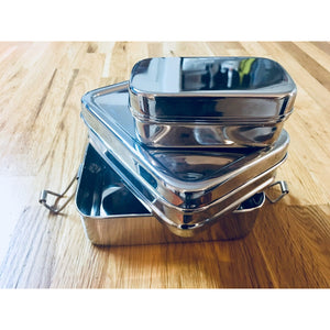 Green Essentials Stainless Steel Tuck-a-Stacker Trio Lunchbox