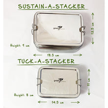 Load image into Gallery viewer, Green Essentials Stainless Steel Tuck-a-Stacker Trio Lunchbox