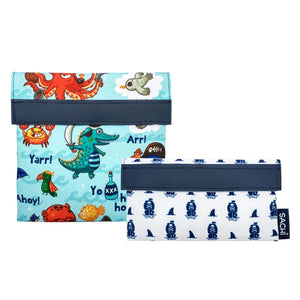 Sachi Reusable Sandwich & Snack Bags - Pirate Bay