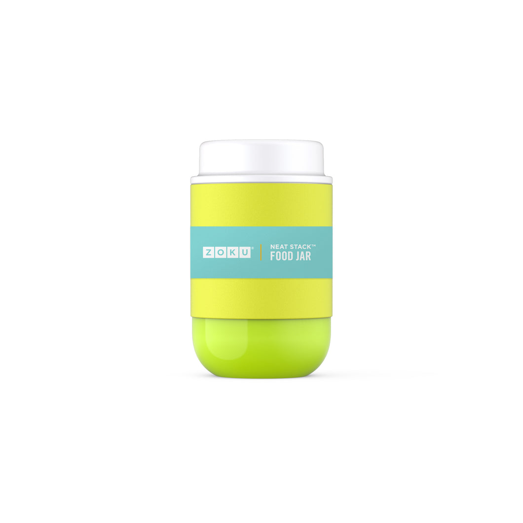 Zoku 475ml Neat Stack Food Jar - Lime Green