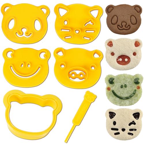 Cute Z Cute Animal Friends - Sandwich Cutter & Cookie Stampers