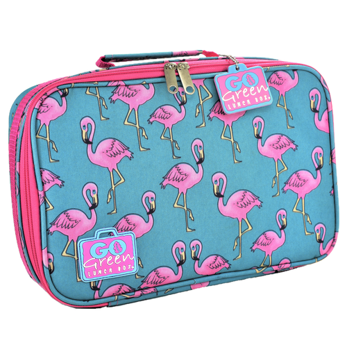 Go Green Original Lunch Box Set - Flamingo