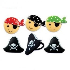 Pirate Food Ring / Cupcake Toppers - 6 Pack