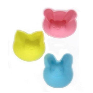 Silicone Food Cups - Animal Faces Set