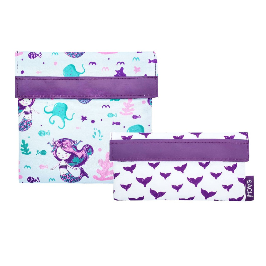 Sachi Reusable Sandwich & Snack Bags - Mermaids