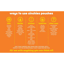Load image into Gallery viewer, 80ml Sinchies Reusable Food Pouches (10 Pack)