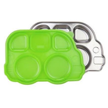 Load image into Gallery viewer, Stainless Steel Bus Divided Plate with Green Lid