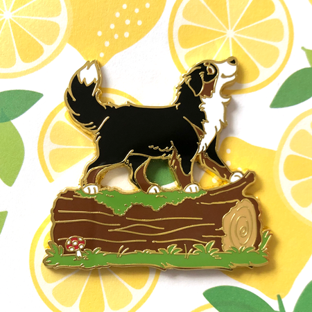 Dog on a Log - Hard Enamel Pin
