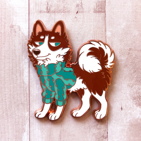 Cozy Husky - Hard Enamel Pin