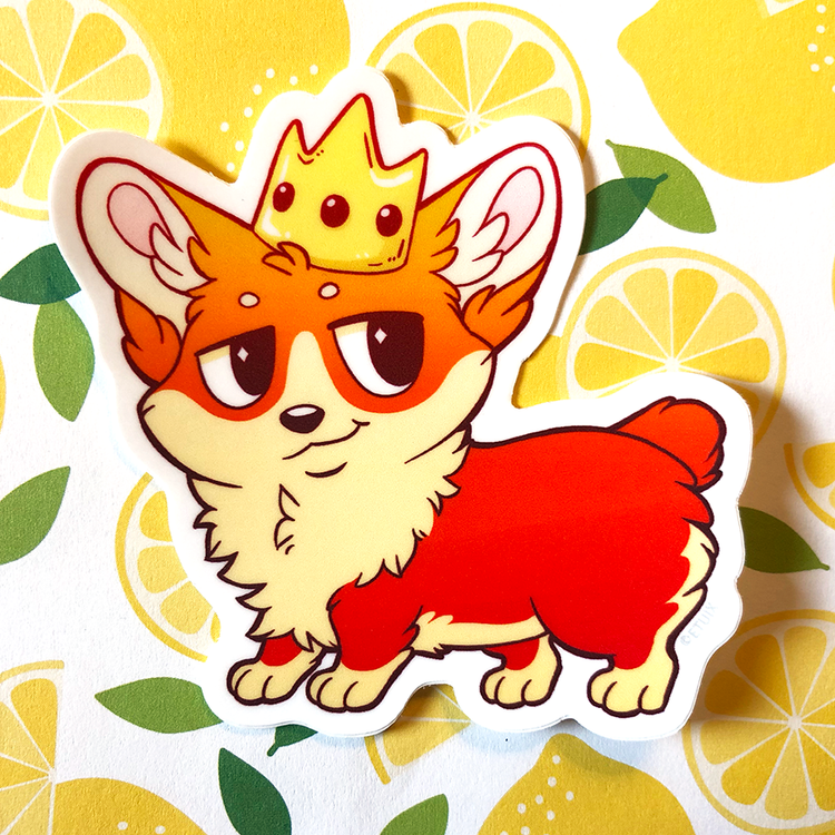 Sticker: Royal Corgi
