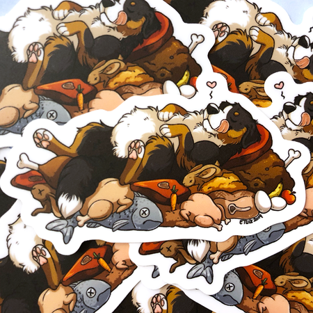 Sticker: Stuffed Berner
