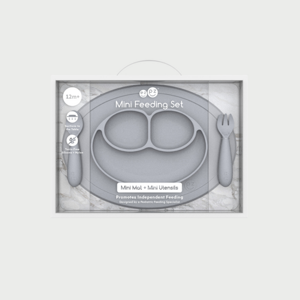 Grey Mini Feeding Set