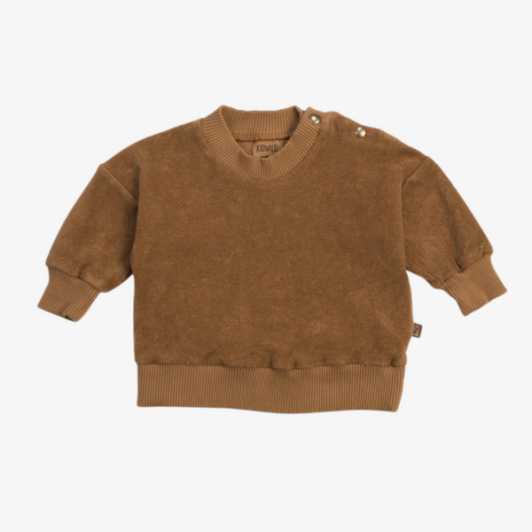Organic Terry Sweatshirt in Brick