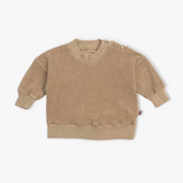 Organic Terry Sweatshirt in Fawn