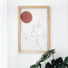 Ava Rose Abstract Print