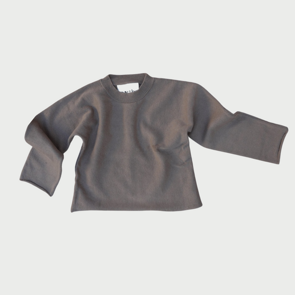 Knit Sweater in Coffee
