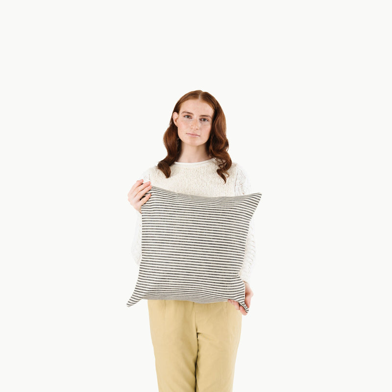 Striped Square Pillow Cover