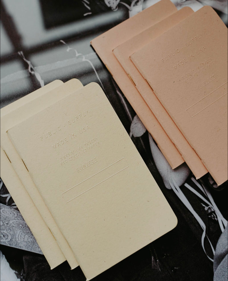 Embossed Pocket Notebook - Manilla