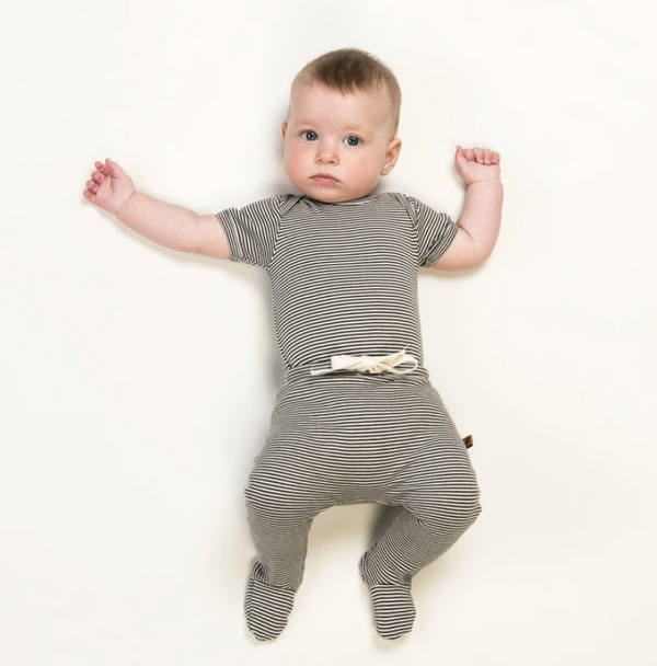 Striped Short Sleeve Onesie