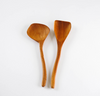 Round Teak Serving Spoon