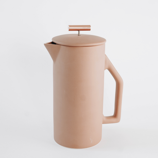 Matte Sand Ceramic French Press