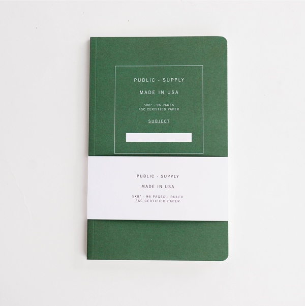 Soft Cover Notebook - Green