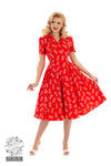 Hearts and Roses Ruby Rose Swing Dress