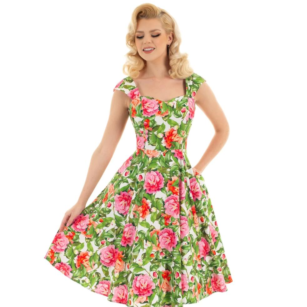 Hearts and Roses Penny Swing Dress
