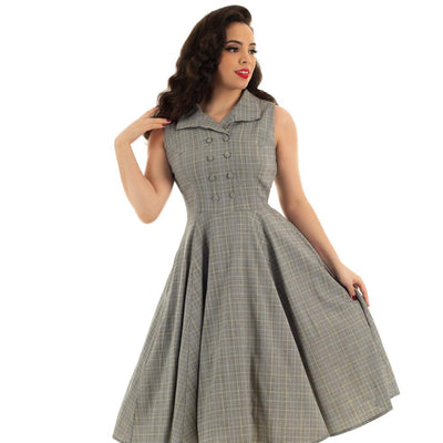 Hearts and Roses Christine Check Swing Dress