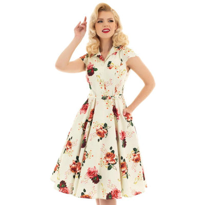Hearts and Roses Delilah Swing Dress