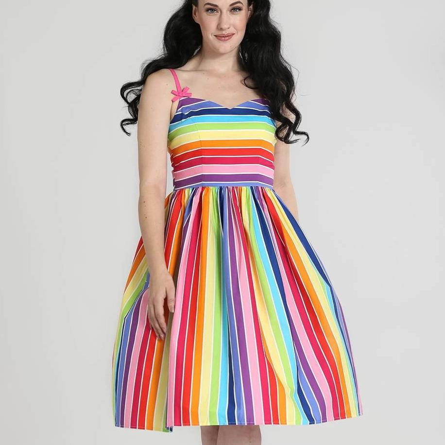 Hell Bunny Over The Rainbow 50s Dress