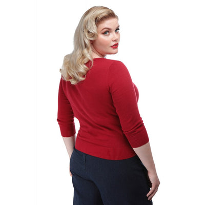 Collectif Mainline Charlene Rock Roll Cardigan