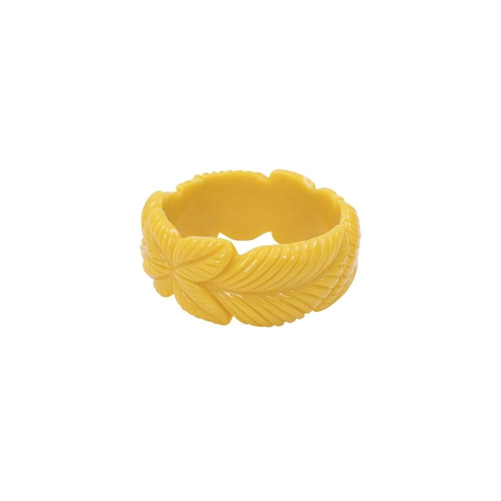 Collectif Accessories Carrie Vintage Leaves Bangle-Yellow-Vendemia