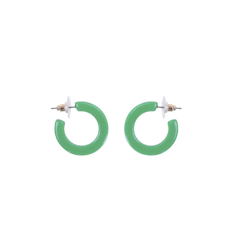 Collectif Accessories Debbie Fakelite Earrings-Green-Vendemia