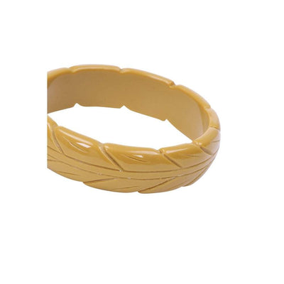 Collectif Accessories Lena Carved Bangle-Mustard-Vendemia