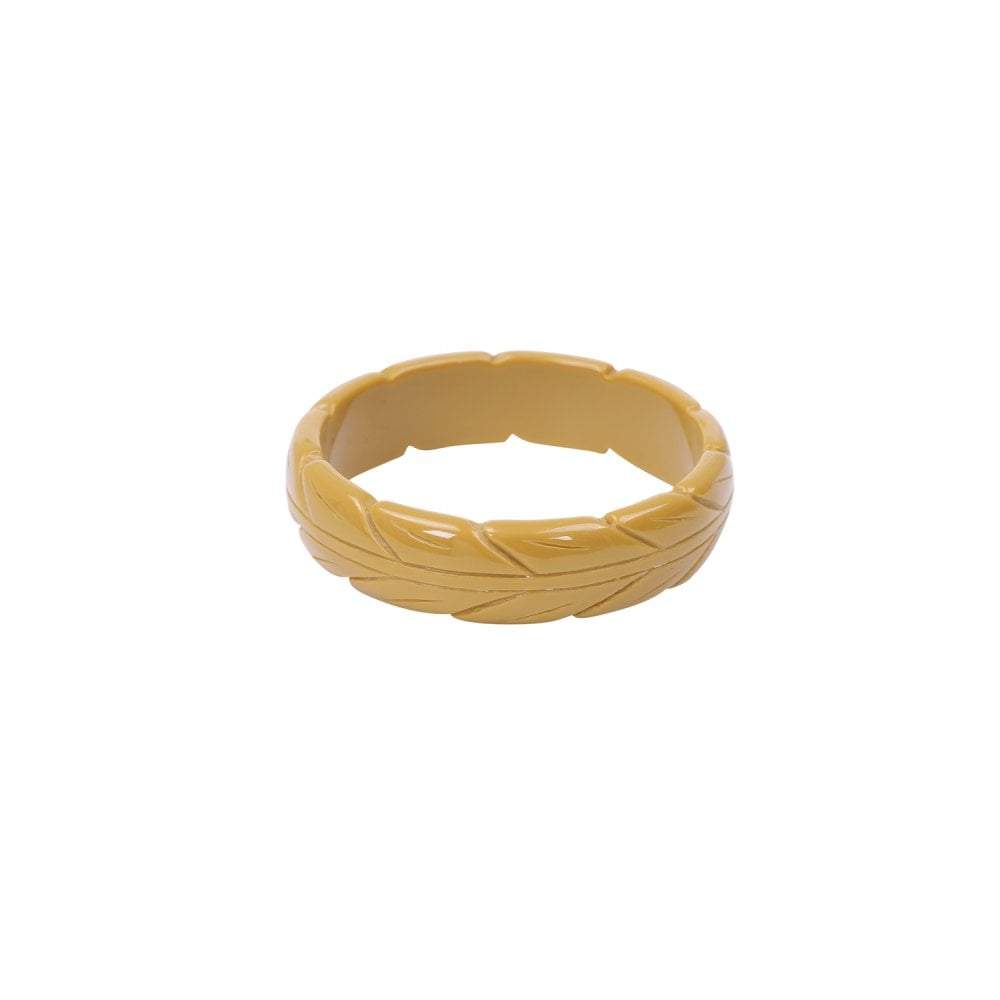 Collectif Accessories Lena Carved Bangle-Vendemia