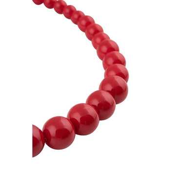Collectif Accessories Natalie Bead Necklace Set-Red-Vendemia