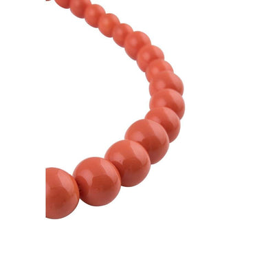 Collectif Accessories Natalie Bead Necklace Set-Orange-Vendemia