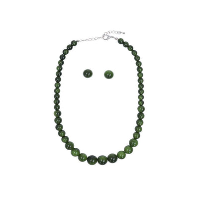 Collectif Accessories Natalie Bead Necklace Set AW-Green-Vendemia