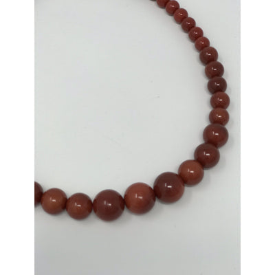 Collectif Accessories Natalie Bead Necklace Set AW-Burgundy-Vendemia