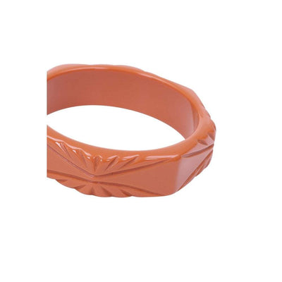 Collectif Accessories Olivia Carved Bangle-Orange-Vendemia